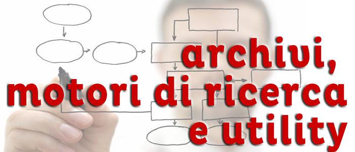 Usability: archivi, motori di ricerca e utility