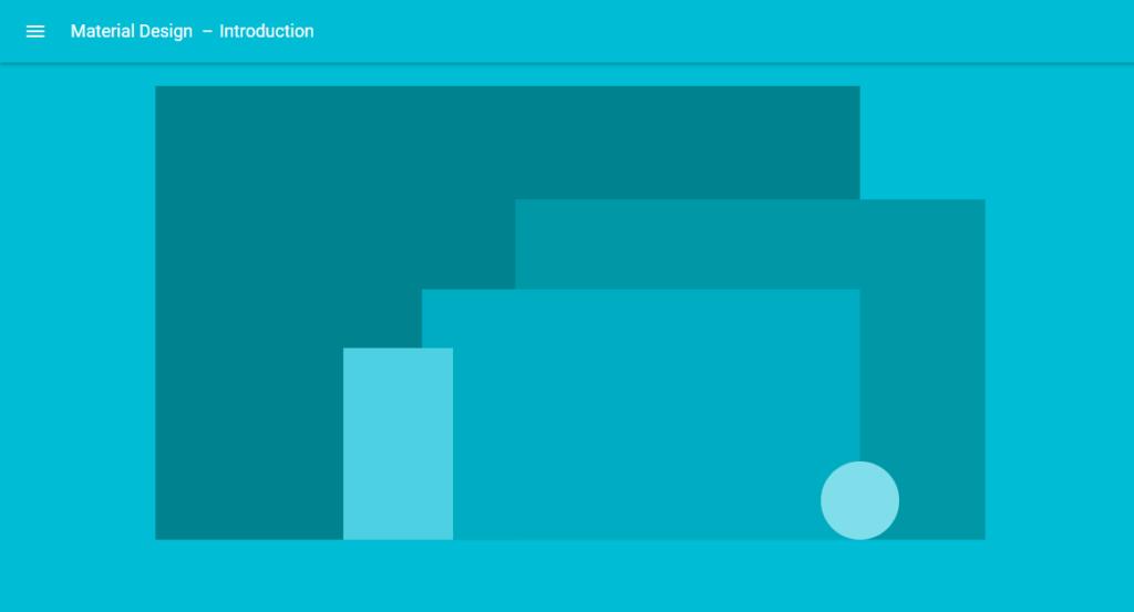 La presentazione della guida online di google material for Programmi di design
