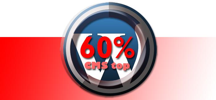 WordPress al 60% del mercato dei CMS