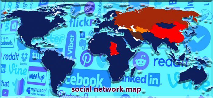 da Vincos Blog la mappa dei social network nel mondo 2018